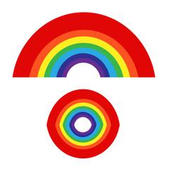rainbow with cloud icon