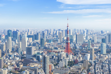 東京タワーと都心の街並み