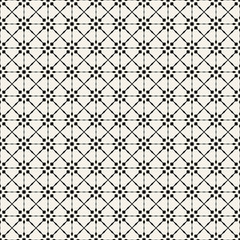 Fabric print. Geometric pattern in repeat. Seamless background, mosaic ornament, ethnic style. Two colors