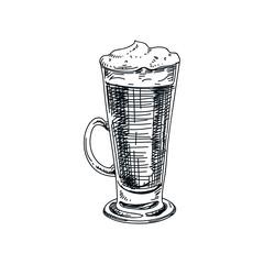 Beautiful vector hand drawn beverage Illustration.