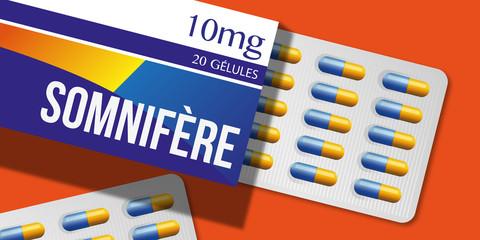 médicament - gélule - somnifère - sommeil - santé - dormir - insomnie - médecine - boite de médicament