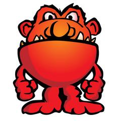 Silly Monster Creature Cartoon Vector Illustration