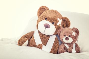 kleine Patienten im Bett