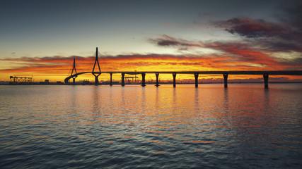 1812 Constitution Bridge at Dawn Cadiz Spain