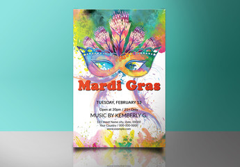 Mardi Gras Party Flyer 4