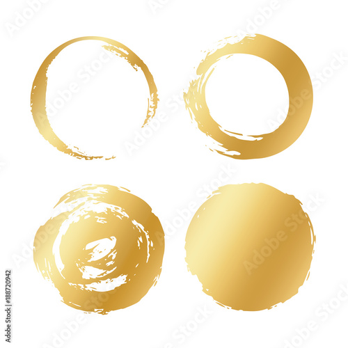 quot vector set of gold different round brush strokes circle vector brush strokes eps vector brush strokes png