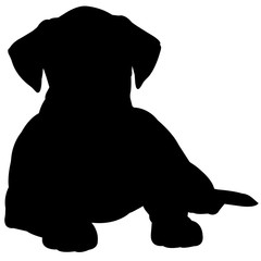 Boxer Dog Silhouette Vector Graphics