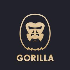 gorilla head logo concept