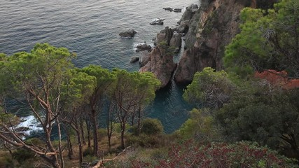 Fotomurales - Landscape of Tossa de Mar coast in Costa Brava. Spain.
