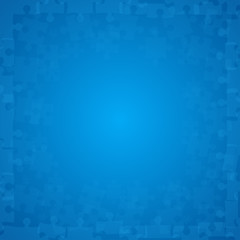 Blue Puzzles Pieces - Vector Illustration Jigsaw