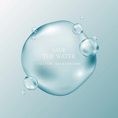 Fototapeta transparent water droplets obraz