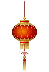 Chinese lantern isolated on white background