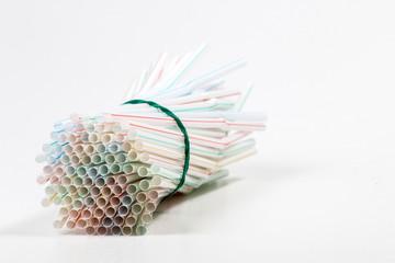 Bunch of drinking straws