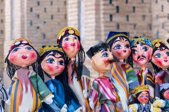 Traditional oriental doll in Bukhara Bazaar - Uzbekistan