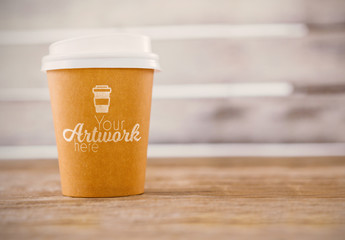 Disposable Coffee Cup Mockup 1