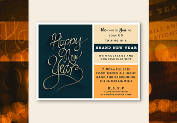 Cursive New Year's Event Flyer Layout 1