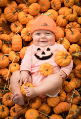 Halloween Pumpkin Autumn Baby