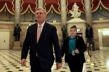 House Majority Leader Kevin McCarthy walks to the House chamber