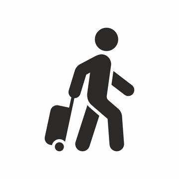 Tourist vector icon