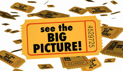 See the Big Picture Tickets Full Movie 3d Illustration