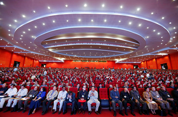 Members of the Cambodian People's Party (CPP) attend the party's congress in Phnom Penh, Cambodia