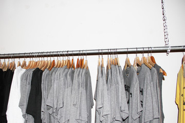 Selling Gray Shirts in a Shop
