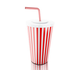 3d Plastic fastfood cup