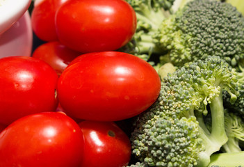 Small Tomatoes and Broccoli