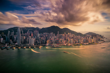 Wall Mural - Panorama of Hong Kong City skyline