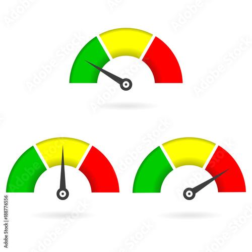 Speedometer icon set. Gauge or meter sign. Infographics design ...