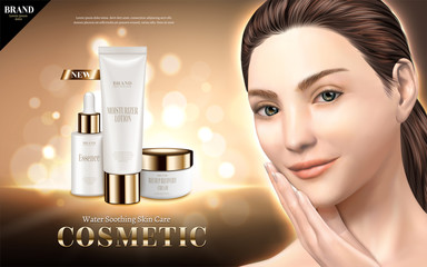 Cosmetic skincare ads