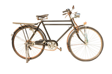 Papiers peints Velo Retro bike,isolated on white background with clipping path.
