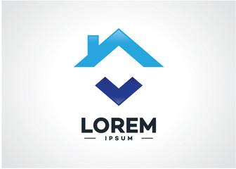 Real Estate Logo Template Design Vector, Emblem, Design Concept, Creative Symbol, Icon