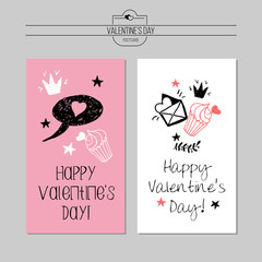 Card greeting emblem for Valentines Day