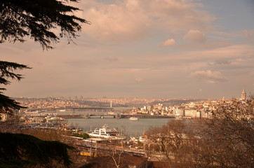 Golden Horn Istanbul City View  Landscape of Istanbul City, Golden Horn side seeing