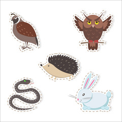 Cute Cartoon Forest Animals Stickers Collection