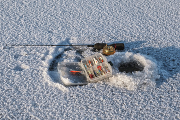 Fishing tackle for winter fishing.