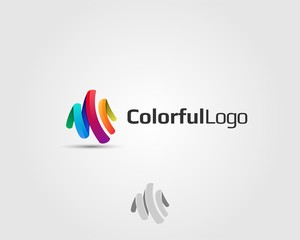 abstract colorful logo icon element template