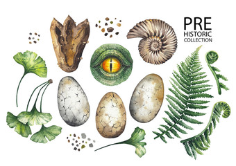 Watercolor prehistoric collection