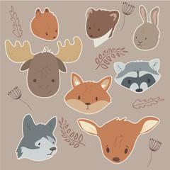 Animals sticker set