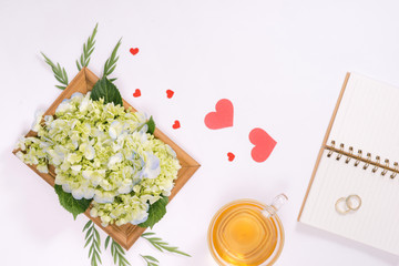 Love or valentine's day concept. Spring or summer background