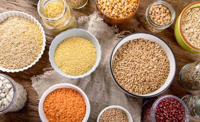 Ancient grains, seeds, beans Wall mural