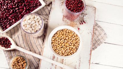 Assortment of beans.
