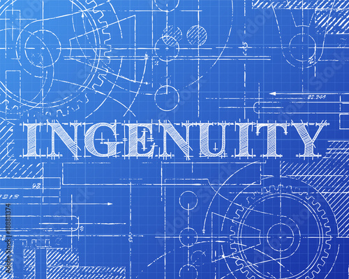 Ingenuity blueprint tech drawing stock image and royalty free ingenuity blueprint tech drawing malvernweather Images
