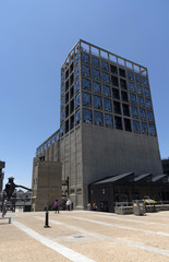 V&A Waterfront Cape Town South Africa, December 2017. An external view of The Zeitz Museum of Contemporary Art Africa