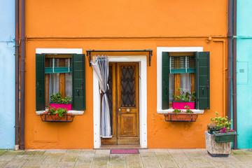 Burano colorful island in Venice.
