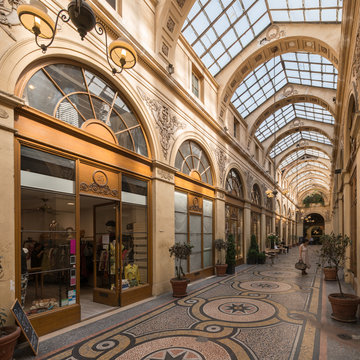 Einkaufspassage der Galerie Vivienne in Paris, Frankreich
