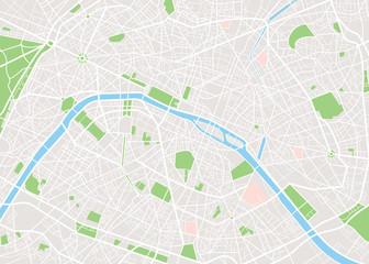 Fototapeta premium Mapa miasta Paryża