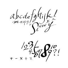벡터 문자 / 손으로 쓴 글씨체