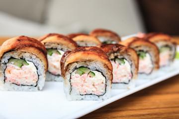 Rolls with eel